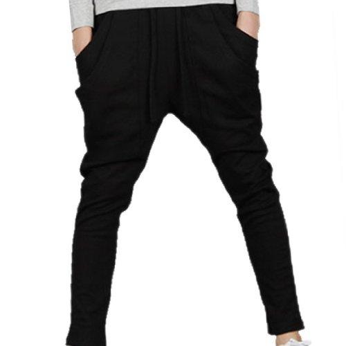 Tangda Men Harem Baggy Hip Hop Dance Sport Sweat Pants Trousers Black Size Xxl