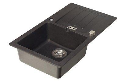 Küche spülbecken küche schwarz : Einbauspüle Granit Spüle ...