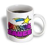 3dRose mug_201396_2 Shooting Star Rainbow Awesome Sauce Ceramic Mug - 15-Ounce