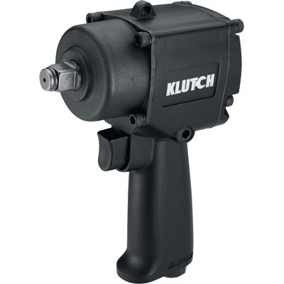 Klutch Heavy-Duty Compact Air Impact Wrench – 1/2in. Square Drive