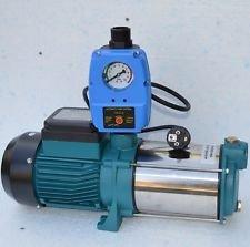 Kreiselpumpe Hauswasserwerk Gartenpumpe INOX 1300 Watt 6000 L/h 5,1 bar + BRIO