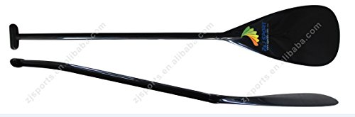 Tahiti Type Lightweight Full Carbon Fiber Outrigger Canoe OC Paddle With Bent Shaft (M-9.4''18.5'', 48'') (Carbon Fiber Canoe Paddle compare prices)