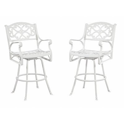 Home Styles 5552-89 Biscayne Bistro Outdoor Bar Stool, White Finish image
