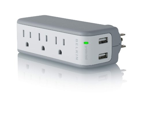 Belkin Mini Surge Protector Dual USB Charger