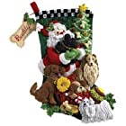 Bucilla Santa Paws Stocking Felt Appliqué Kit-18-Inches Long