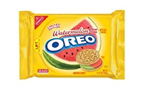 Nabisco Oreo Limited Edition Watermelon Flavored Golden Cookies (1 Pack)