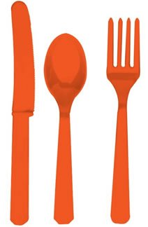 Orange Asst. Cutlery (24 count)