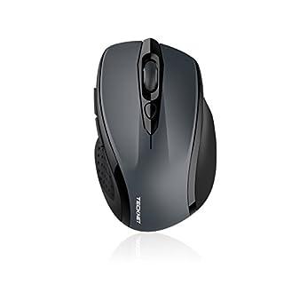 TeckNet 2400DPI Bluetoothワイヤレスマウス バッテリーインジケータ付き ブルートゥースマウス 24ヶ月電池寿命 2400/1500/1000 DPI
