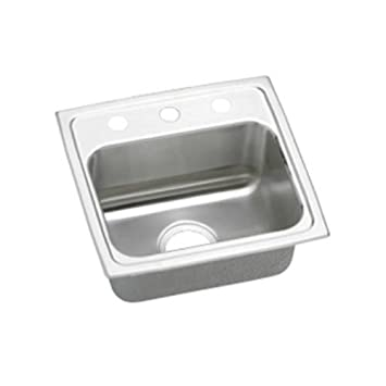 Elkao|#Elkay LRAD1716550 Elkay 18 Gauge Stainless Steel 17 Inch x 16 Inch x 5.Inch single Bowl Top Mount Kitchen Sink,