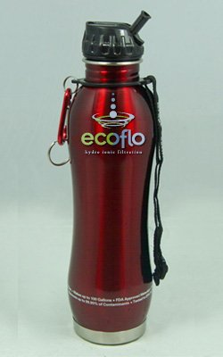 Cheap Stainless Steel Water Filter Bottle Chrome 27oz, Red (B001TKAD3Y)