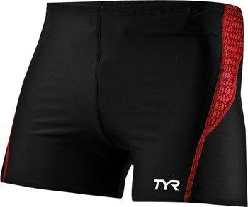 Tyr Men'S Boxer: Black/Red; Md