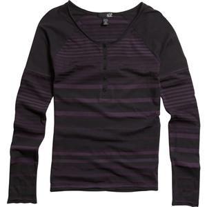 Fox Racing Women's Retro Rider Long Sleeve Henley Shirt - Large/Black