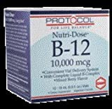 Nutri-Dose B-12, Mixed Berry Flavour, 10,000 mcg, 12 Vials, 0.5 fl oz (15 ml) Each