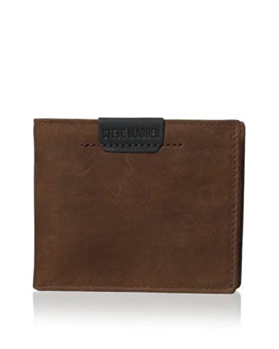 Steve Madden Men's Dakota Billfold Wallet, Brown, One Size