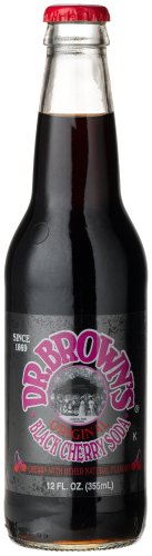 "Dr. Brown'S Black Cherry Soda - ""It'S Kosher"" And Very Cherry!, 12-Ounce Glass Bottle (Pack Of 12) front-918207"