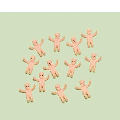 "Amscan Delightful Tiny Baby Plastic Baby Shower Party Charm Decors/Favors, 1-1/2 x 3/4"", Flesh"