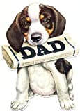 Father's Day Greeting Card - Newspaper Dog
