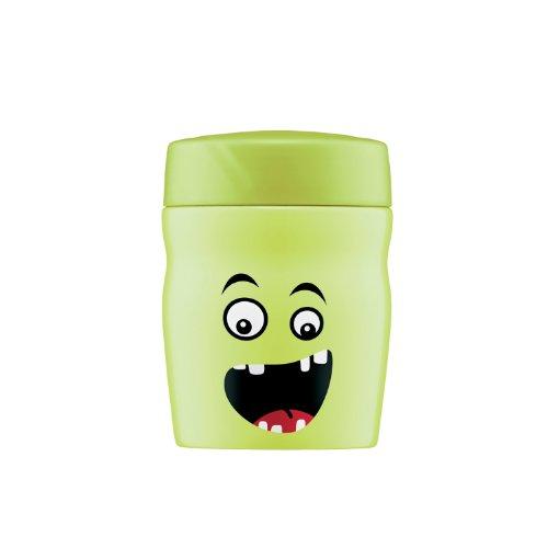 Afi 0637102035 Monster - Contenitore isolante in acciaio Inox per alimenti, 350 ml, colore: Verde
