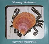 Tommy Bahama Wine Bottle Stopper Silver Crab with Real Shell