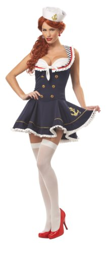 California Costumes Women's Nautical Doll Costume,Navy,Large