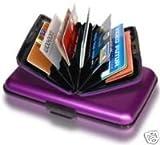 Executive Style Ogon Designs Purple Resistant PVC Aluminum Wallet