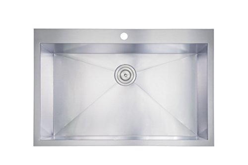 Phoenix 18 Gauge 304 Grade Stainless Steel Single Bowl Overmount Kitchen Sink (18 Gauge Stainless Steel Pot compare prices)