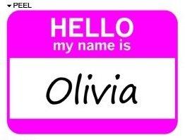 Amazon.com: Hello My Name Is Olivia - Window Bumper Laptop Sticker
