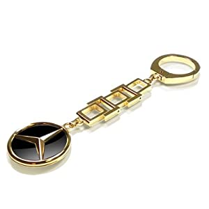Mercedes benz ladies gold key chain official for Mercedes benz key chain