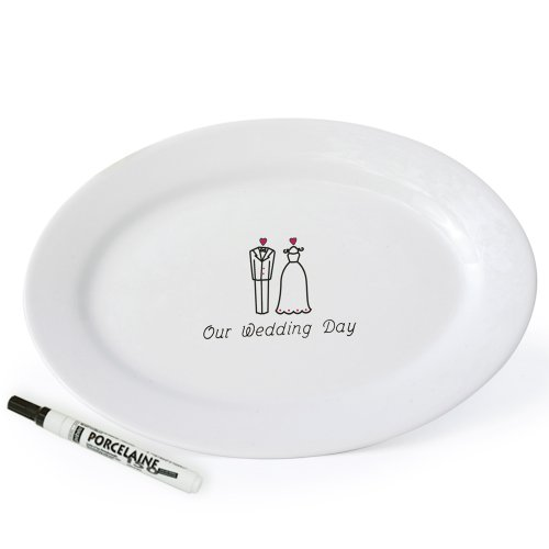 """Cathy's Concepts """"Our Wedding Day"""" Platter"""