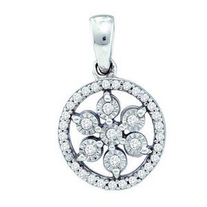 1/8 Carat Diamond Sterling Silver Pendant w/ Chain