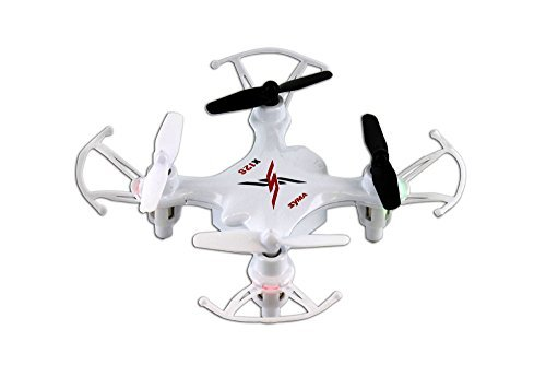 Syma X12S Nano 6-Axis Gyro 4CH RC Quadcopter with Protection Guard, Color...