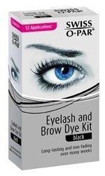 Swiss O Par Eyelash & Brow Dye Tint Color Kit BLACK (Kit Dye compare prices)