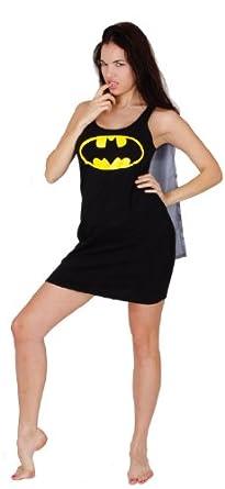 Underboss Productions Llc Women's Batman Caped Sleep Tank Dress Costume Multicoloured X-Large