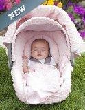 Resistente al agua toldo 5pc conjunto Caboodle (Angelina) bebé Infant Car Seat Cover Kit con tela de Minky