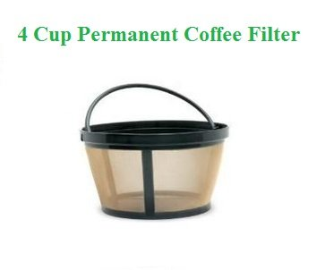 4-Cup Basket Style Permanent Coffee Filter fits Mr. Coffee 4 Cup Coffeemakers (With Handle)