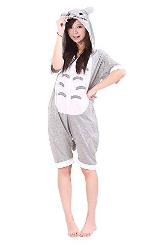 XMiniLife(TM)Summer Kigurumi Anime Unisex Cotton Pajamas,Short Sleeve Onesie