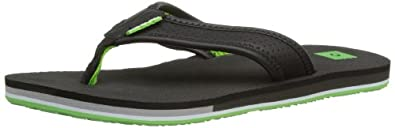 Rip Curl Mens Oilys Thong Sandals TCTAH1 Black/Lime 6.5 UK, 40 EU