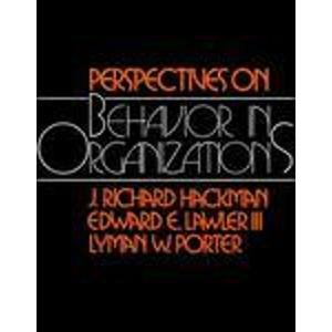 Perspectives on Behavior in Organizations PDF
