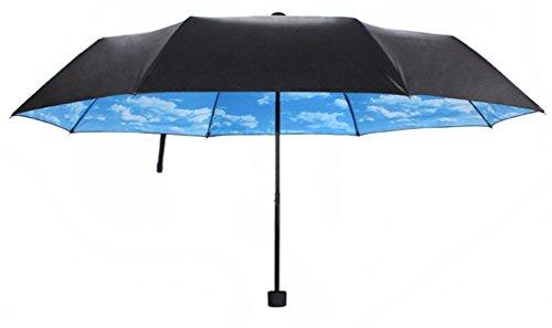 comparamus mondaynoon parapluie pliant ciel bleu r sistant au vent anti rayonnement. Black Bedroom Furniture Sets. Home Design Ideas