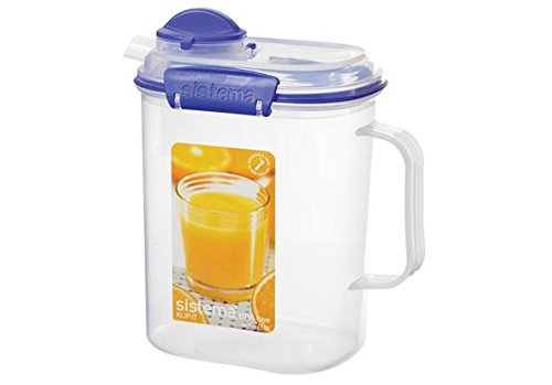 Sistema Klip It Collection Juice Jug, 50 Ounce/ 6.34 Cup (Plastic Beverage Jug compare prices)