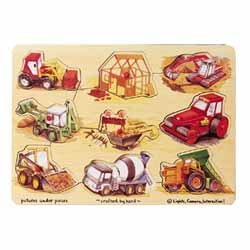 Picture of LCI Melissa & Doug Peg Puzzle - construction (B000HKY0PO) (Pegged Puzzles)