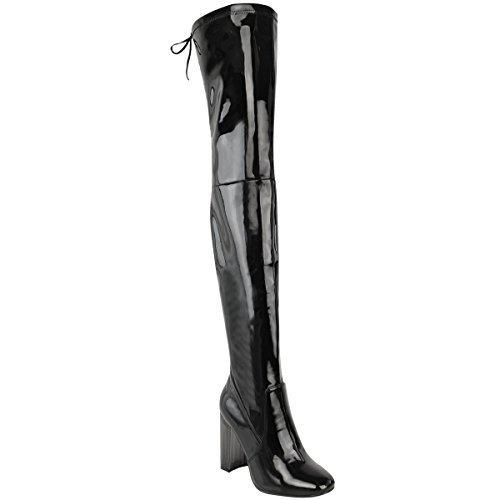 nuovo-da-donna-aderenti-alti-stivali-sopra-al-ginocchio-elasticizzato-a-blocco-tacchi-alti-misura-si