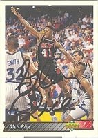 Glen Rice Miami Heat 1992 Upper Deck Autographed Hand Signed Trading Card - Nice... by Hall+of+Fame+Memorabilia