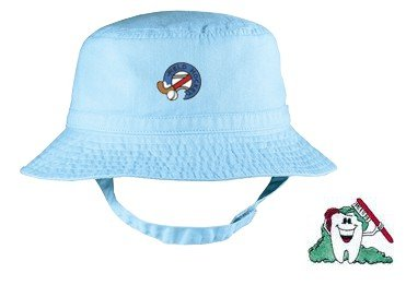 Embroidered Infant Bucket Cap with the image of: cleaning tooth
