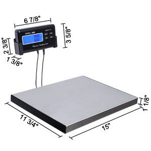 Excellent 440 Lbs Postal Shipping Postage Digital Weight Scale Platform Tool Kit Set Instrument Measure