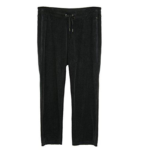 Calvin Klein Women's Velour Stretch Fabric Pants (3X, Black)