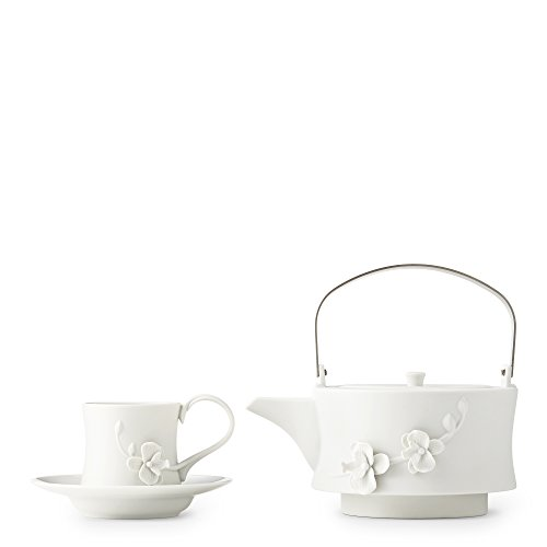 White Orchid Teapot Set by Teavana (Teavana Teapot White compare prices)