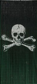 Pirate Flag Jolly Roger Beaded Curtain 125 Strands Hanging Hardware Curtain Store