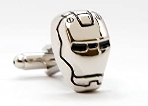 Limited Silver Edition Iron Man Formal Wear with Marvel Comics Gift Box Cufflinks Cuff Links