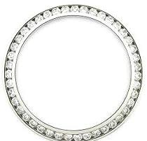 Ladies .80ct Channel Set Diamond Bezel 14kw for Rolex